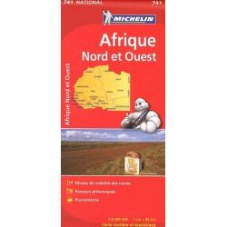 Achat Carte routière Michelin - Afrique Nord et Ouest - 741