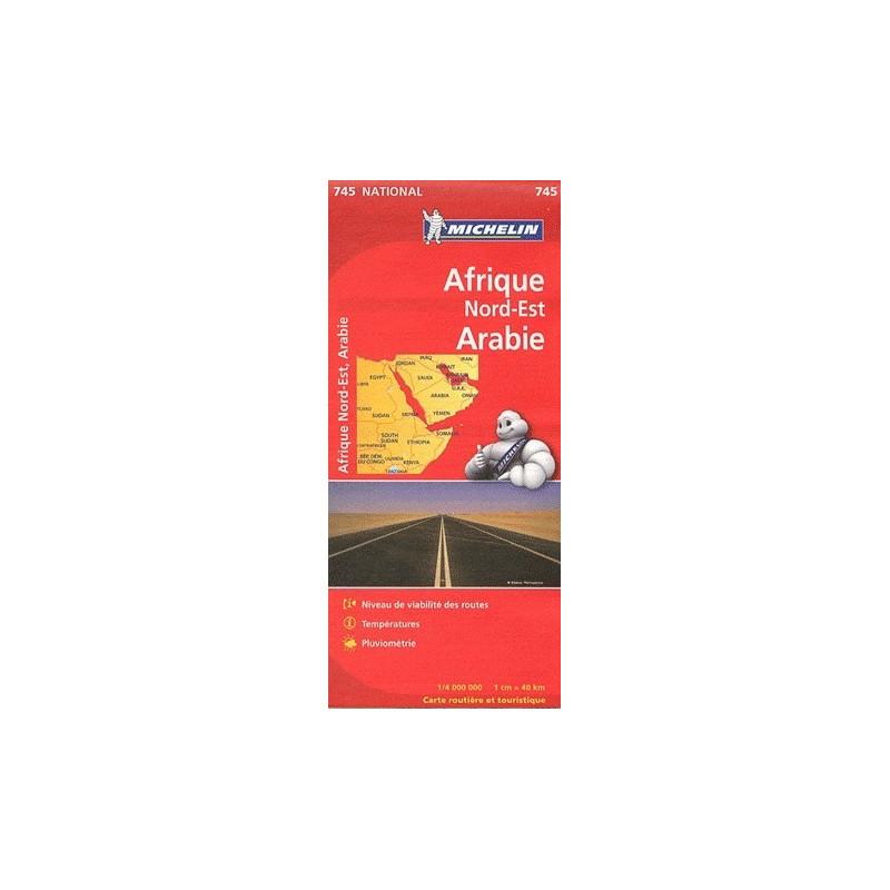 Achat Carte routière Michelin - Afrique Nord-Est Arabie - 745