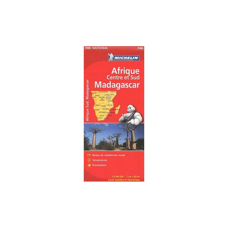 Achat Carte routière Michelin - Afrique centre et sud Madagascar - 746