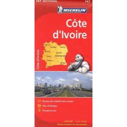 Achat Carte routière Michelin - Côte d'Ivoire - 747