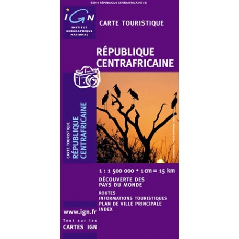 Achat Carte routière IGN - République Centrafricaine