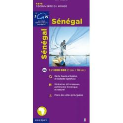 Achat Carte routière IGN - Sénégal