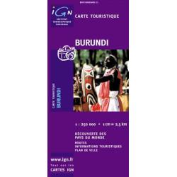 Achat Carte routière IGN - Burundi