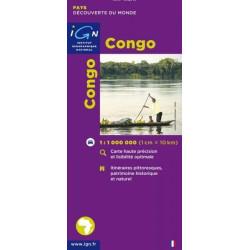 Achat Carte routière IGN - Congo