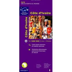 Achat Carte routière IGN - Côte d'Ivoire