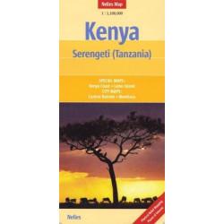 Kenya, Serengeti (Tanzania) - Nelles map