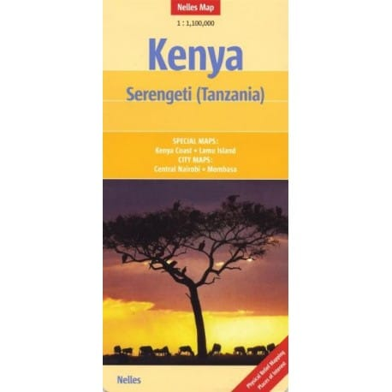 Achat Carte routière - Kenya, Serengeti (Tanzania) - Nelles map