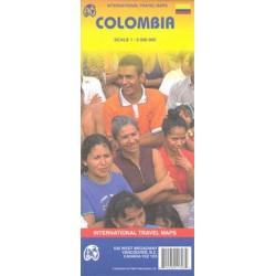 Achat Carte routière - Colombie - ITM