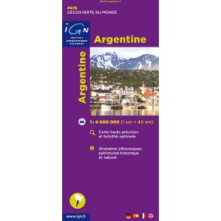 Achat Carte routière IGN - Argentine