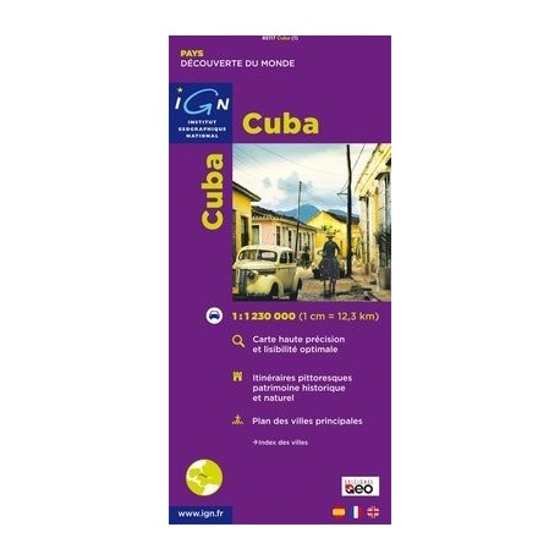 Achat Carte routière IGN   Cuba