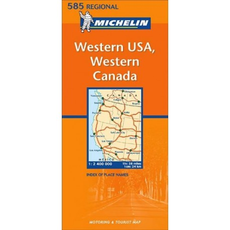 Achat Carte routière Michelin - Western USA, Western Canada - 585