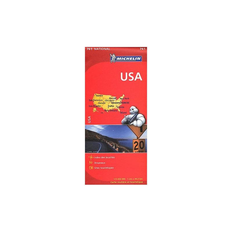 Achat Carte routière Michelin - USA - 761