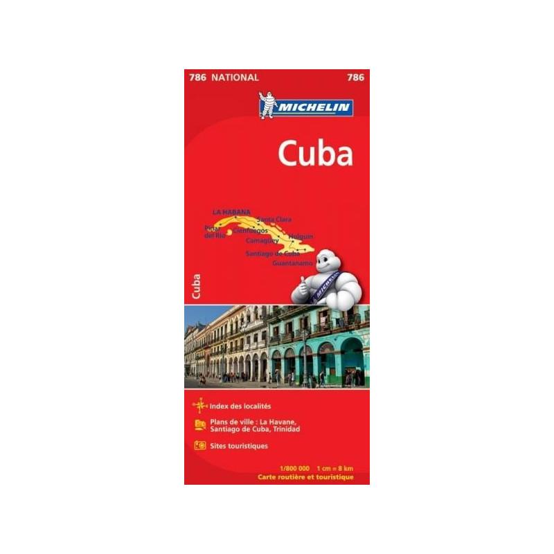 Achat Carte routière Michelin   Cuba   786