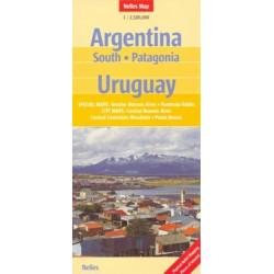 Achat Carte routière - Argentine Sud, Patagonie, Uruguay - Nelles