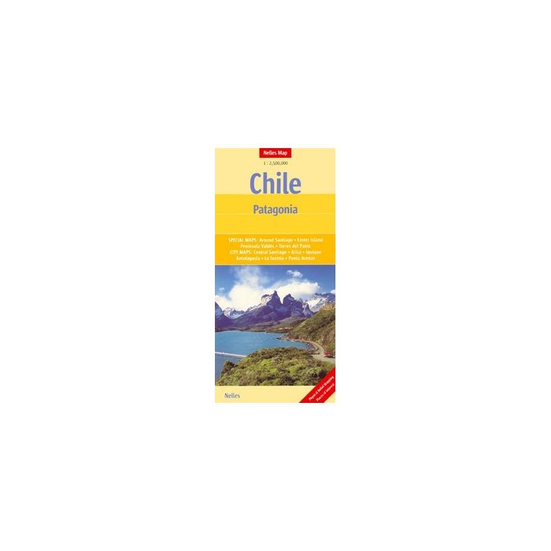 Achat Carte routière - Chili, Patagonie - Nelles
