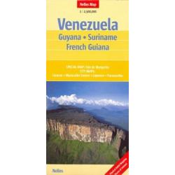 Achat Carte routière - Vénézuela, Guyana, Suriname, French Guiana - Nelles