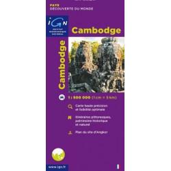 Achat Carte routière - Cambodge - IGN
