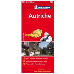 Achat Carte routière Michelin - Autriche 2018 - 730