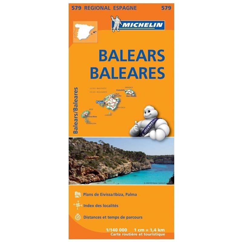 Achat Carte routière Michelin - Baléars/Baléares - 579