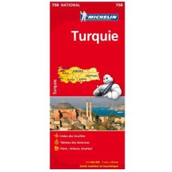 Achat Carte routière Michelin - Turquie - 758
