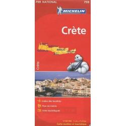 Achat Carte routière Michelin - Crète - 759