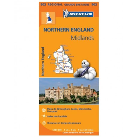 Achat Carte routière Michelin - Northern England, The Midlands - 502
