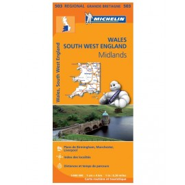 Achat Carte routière Michelin - Wales, The Midlands, South West England - 503