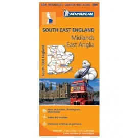 Carte routière Michelin - South East England, East Anglia - 504