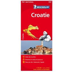 Achat Carte routière Michelin - Croatie - 757