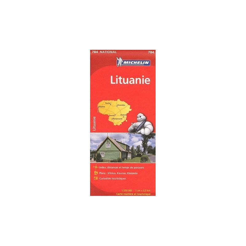 Achat Carte routière Michelin - Lituanie - 784