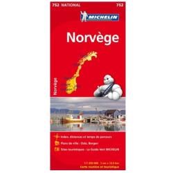 Achat Carte routière Michelin - Norvège - 752