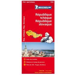 Achat Carte routière Michelin - République tchèque, République slovaque - 731