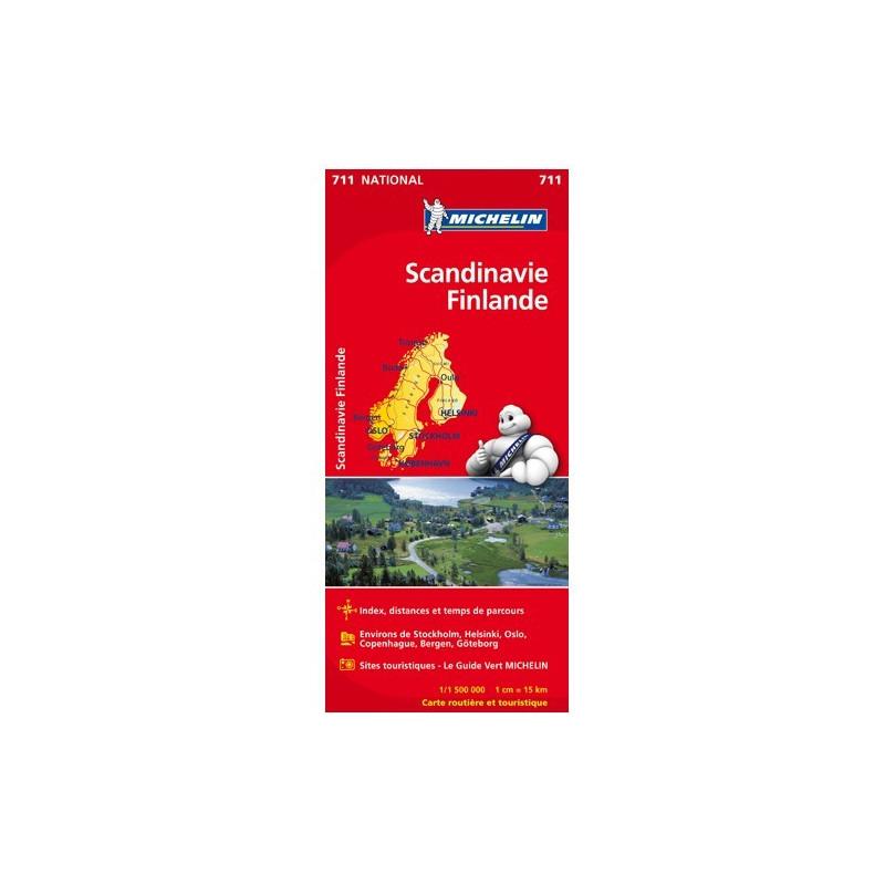 Achat Carte routière Michelin - Scandinavie Finlande - 711
