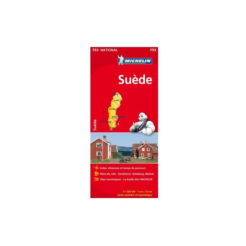 Achat Carte routière Michelin - Suède - 753