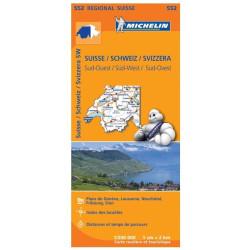 Achat Carte routière Michelin - Suisse Sud-Ouest - 552