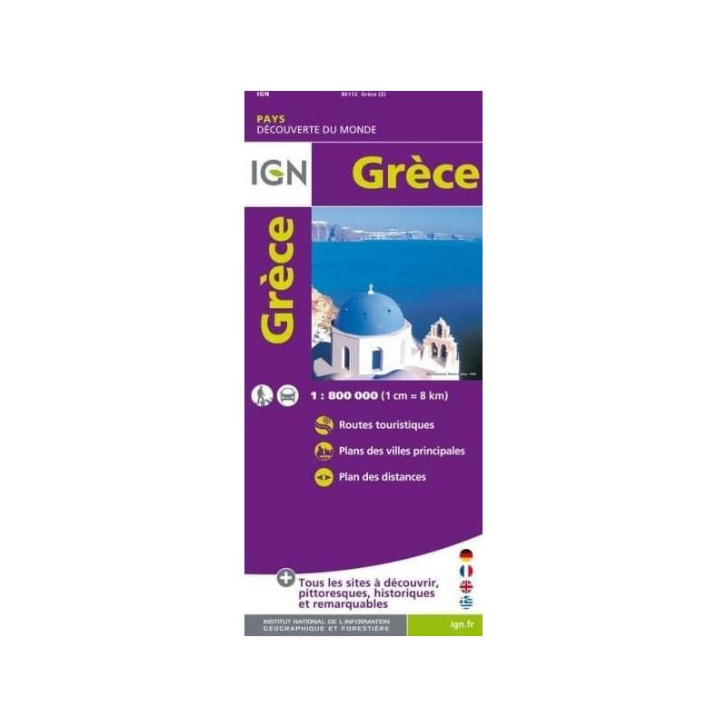 Achat Carte routière et touristique   Grèce   IGN