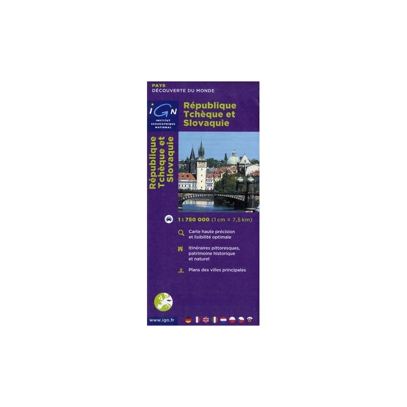 Achat Carte routière et touristique - République Tchèque et Slovaquie - IGN