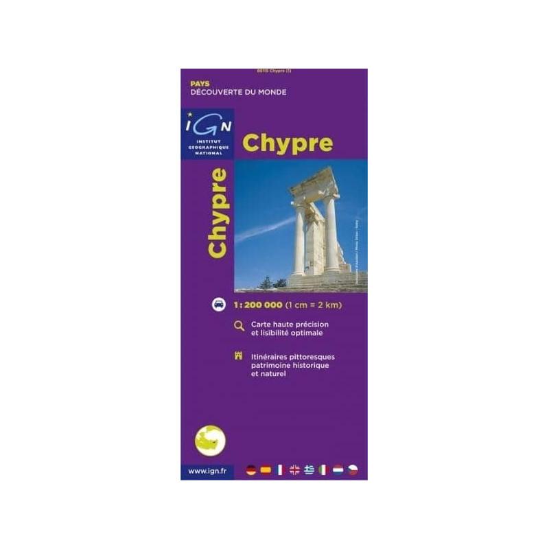 Carte Routiere Chypre Ign.Achat Carte Routiere Et Touristique Chypre Ign