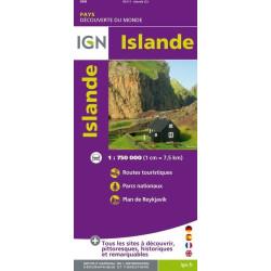 Achat Carte routière Islande - IGN