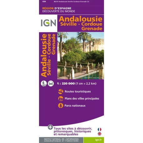 Carte Andalousie Ign.Achat Carte Routiere Ign Andalousie