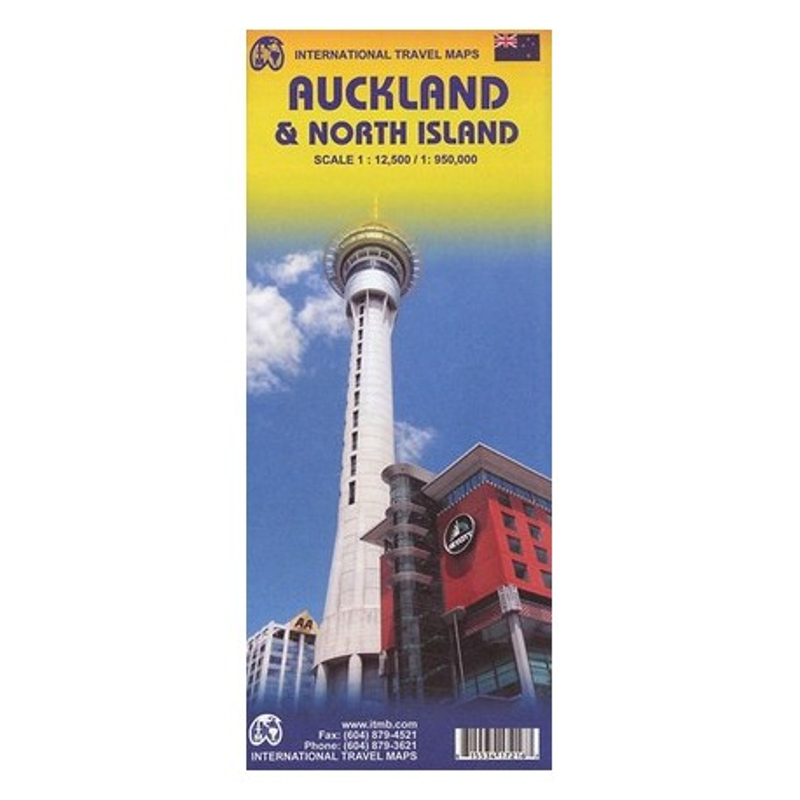 Achat Carte routière - Auckland city / North island - ITM