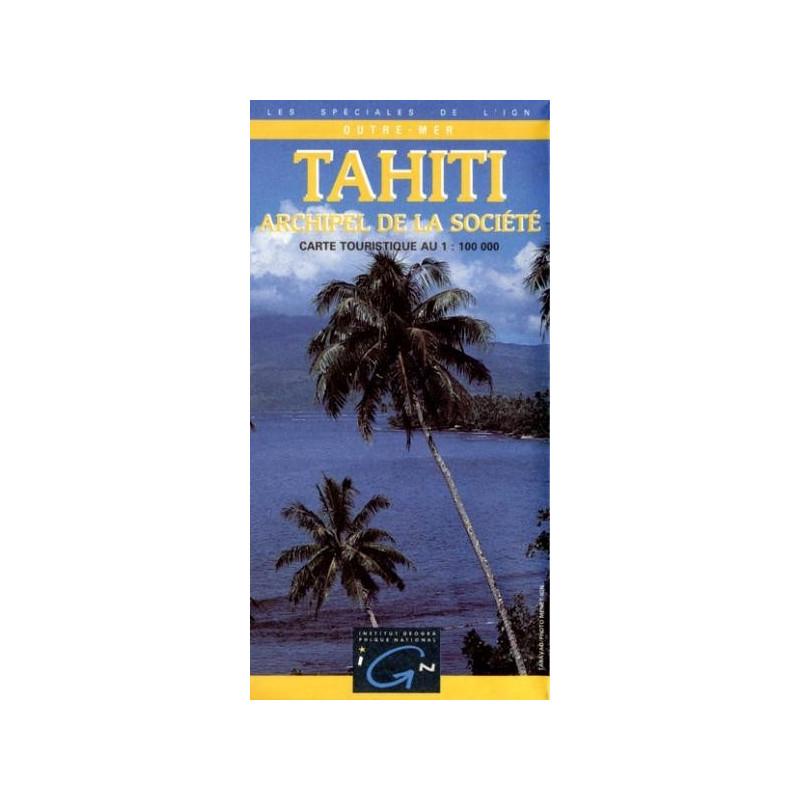 achat carte routi re tahiti archipel de la soci t ign. Black Bedroom Furniture Sets. Home Design Ideas