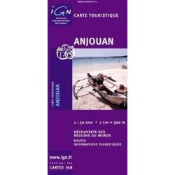 Achat Carte routière - Anjouan ( Comores ) - IGN