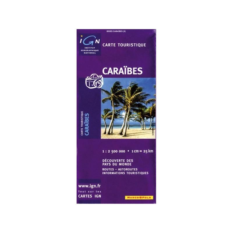Achat Carte routière - Caraibes - IGN