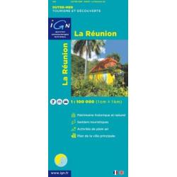 Achat Carte routière - La Réunion - IGN