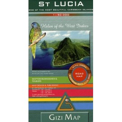 Achat Carte routière - Sainte Lucie - Gizimap