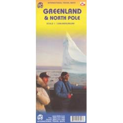 Carte routière Groenland, Pôle Nord - ITM