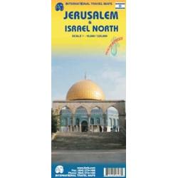 Achat Carte routière - Jérusalem, Israel Nord - ITM
