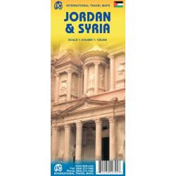 Achat Carte routière - Jordanie, Syrie - ITM