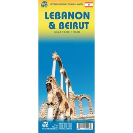 Achat Carte routière - Liban, Beyrouth - ITM